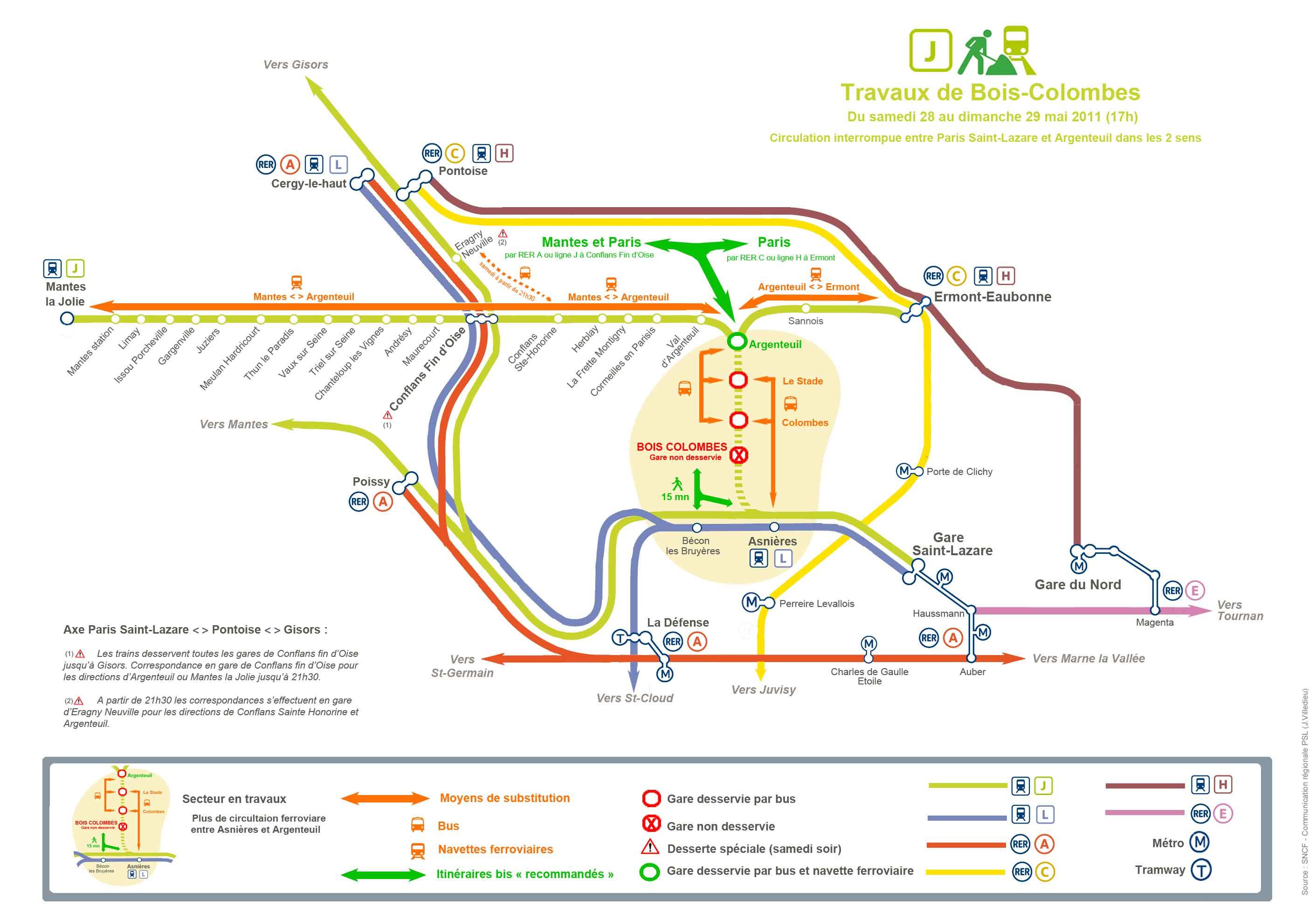 Attention de gros travaux sur les lignes de Paris St Lazare, le week ...