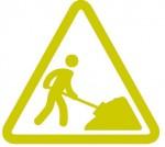 Logo Travaux - pelle vert
