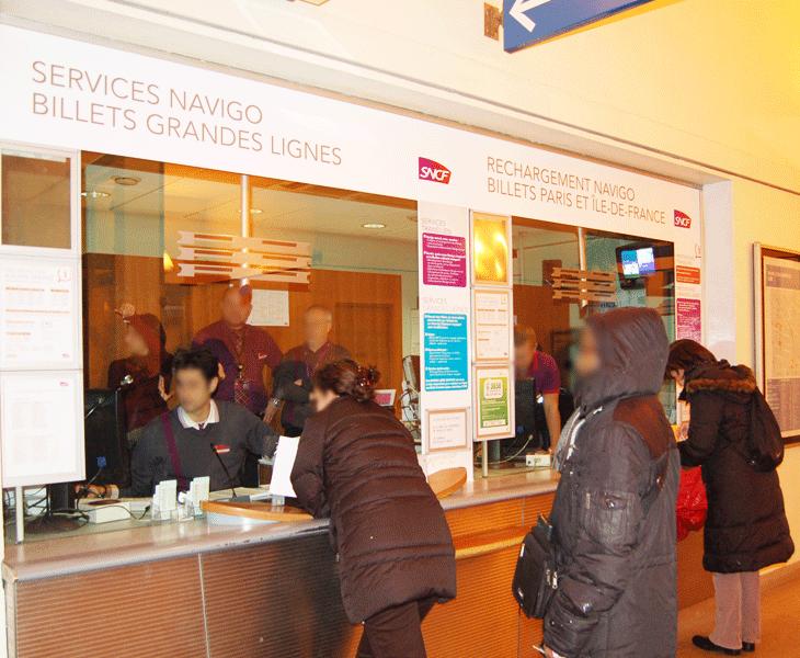 Guichet en gare de Bois Colombes