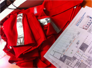 photo gilets rouges cartographie