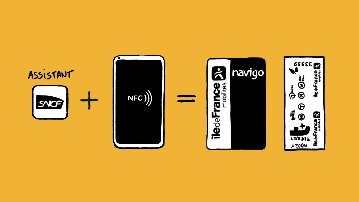 Rechargement Navigo en NFC avec l'application SNCF